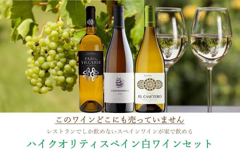 Read more about the article レストランでしか飲めないハイクオリティスペイン白ワインセット